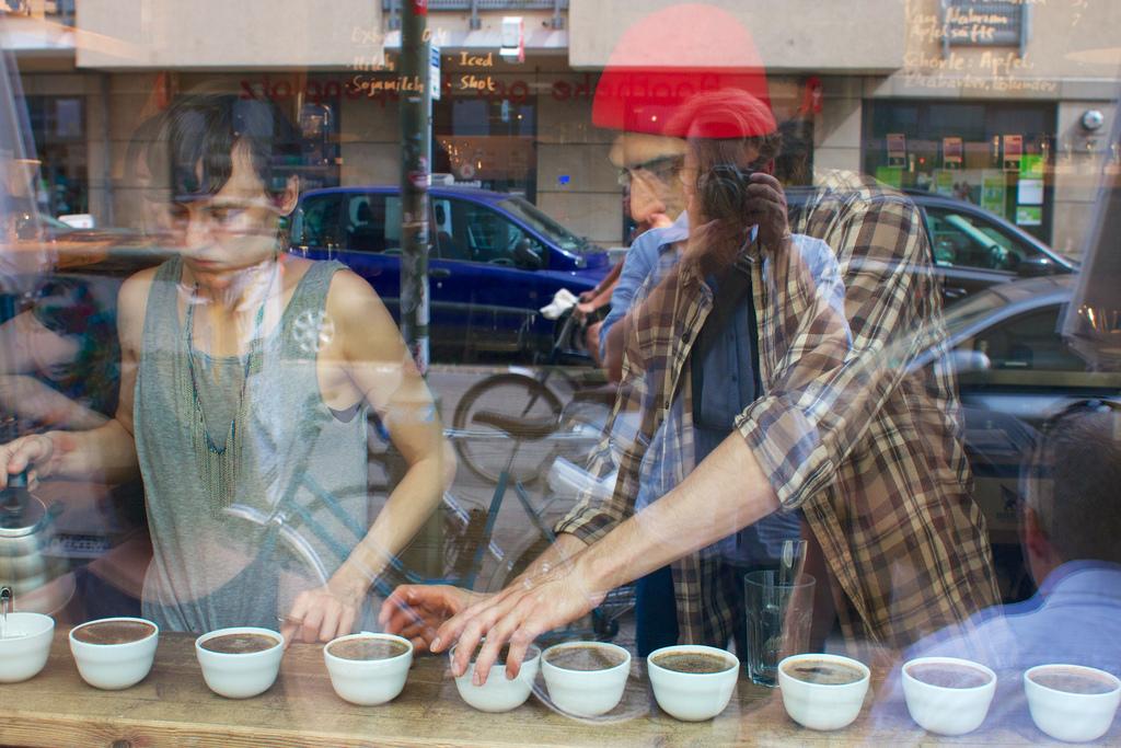 Kaffismökkun á The Barn